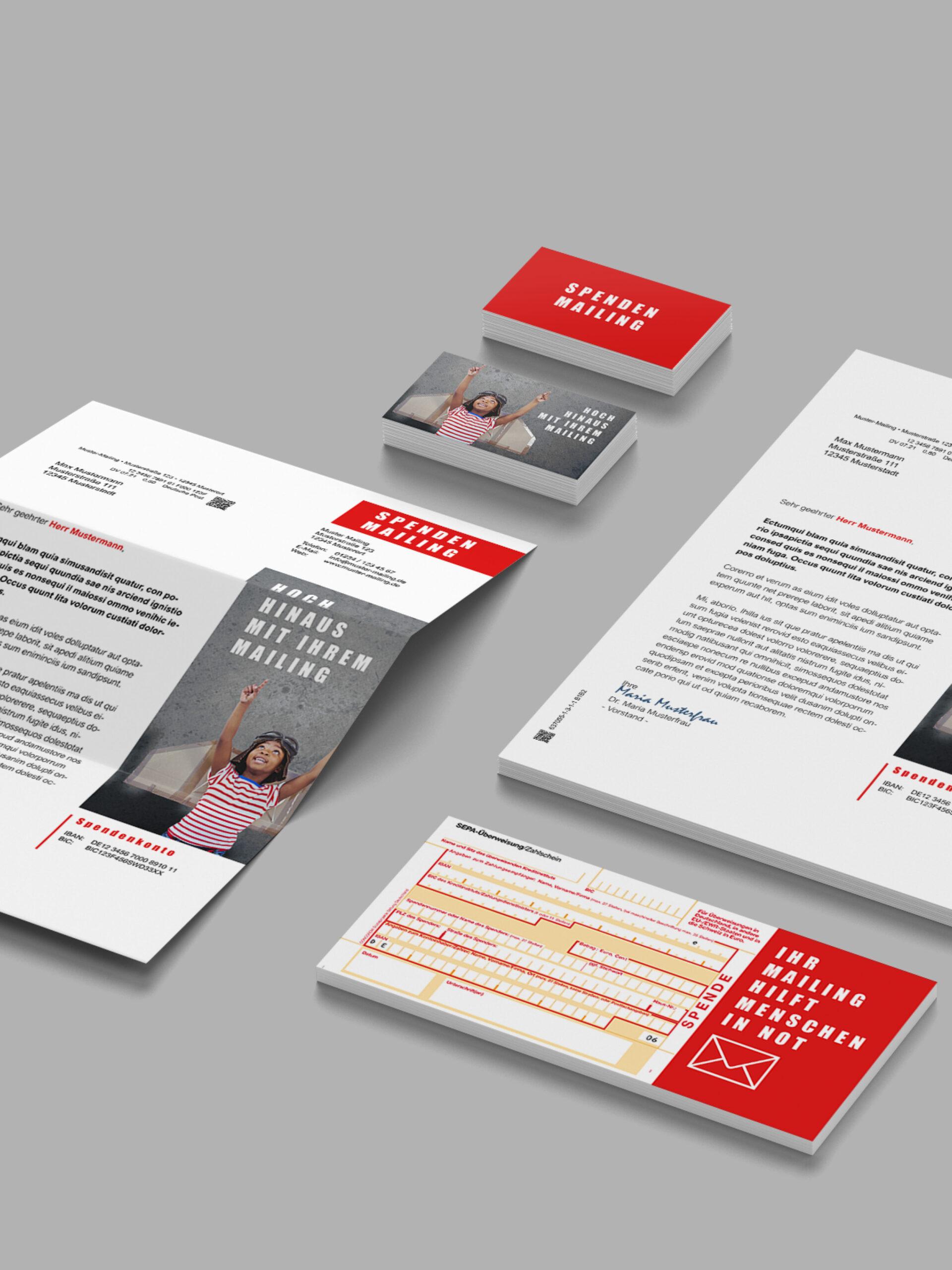 Mailingsbeilagen im Lettershop zum Kuvertieren