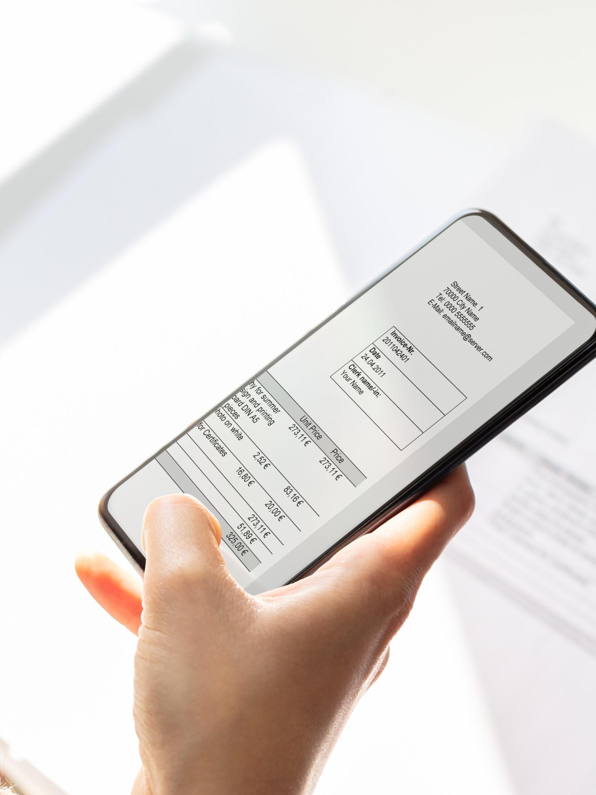 Rechnungen per E-Mails versenden lassen