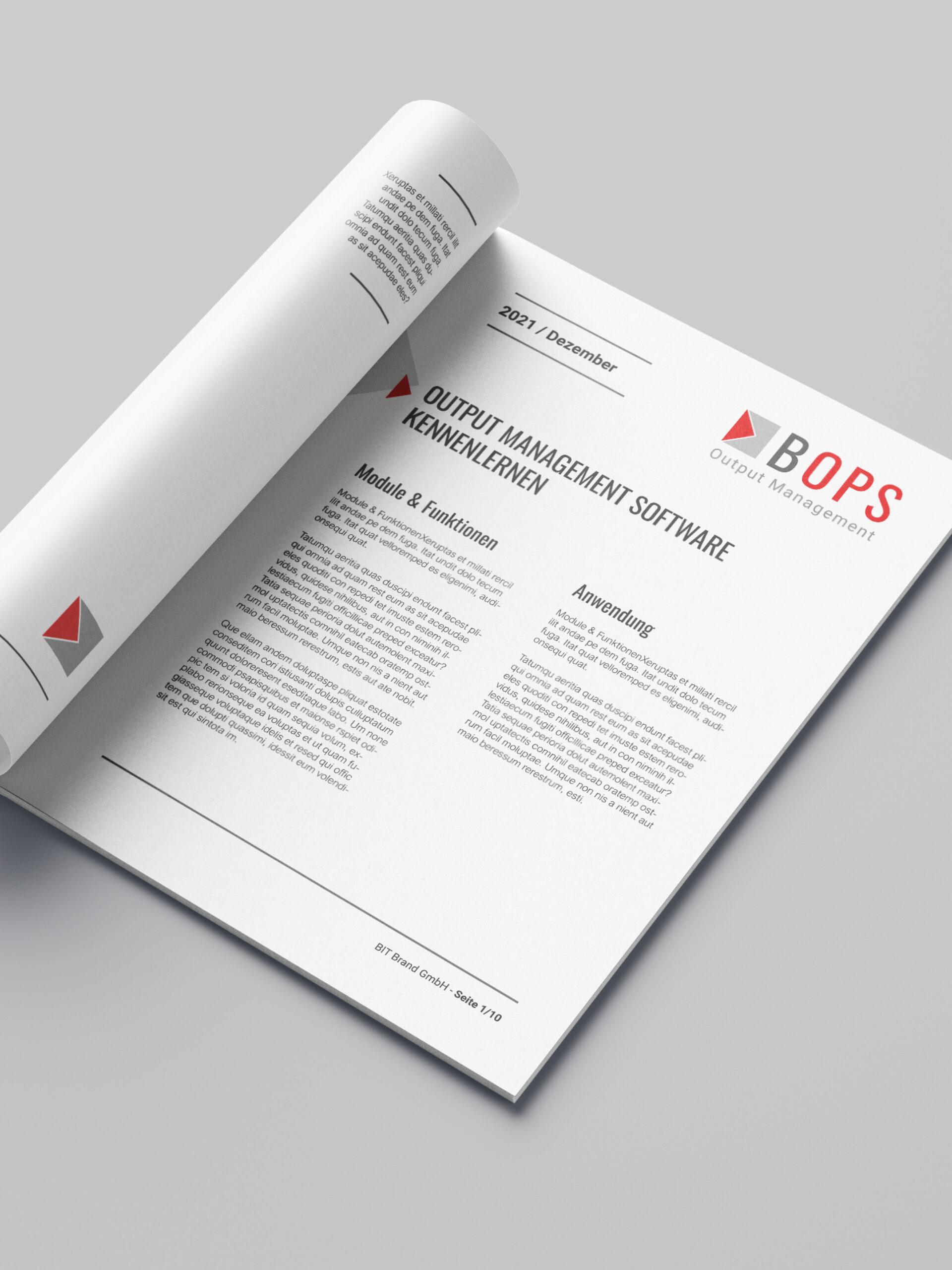 Schulungsmaterial für die Output Management Software BOPS