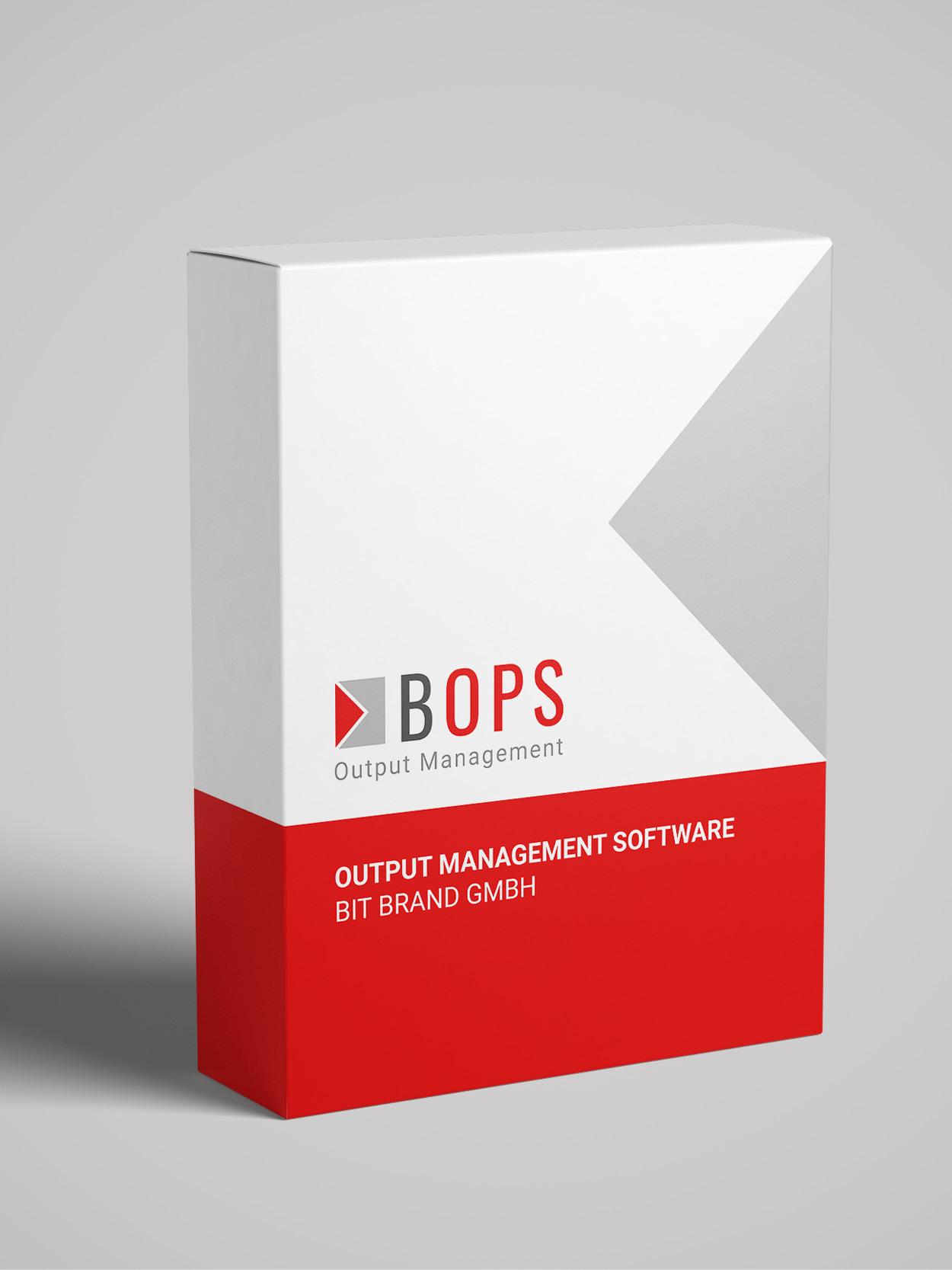 Verpackung der Output Management Software BOPS